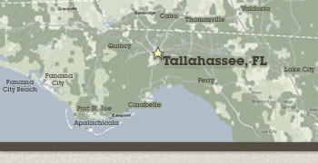 Map: RNR servers the greater Tallahassee Florida Area